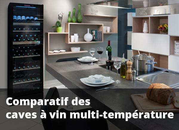 Comparatif des meilleures caves à vin multi température