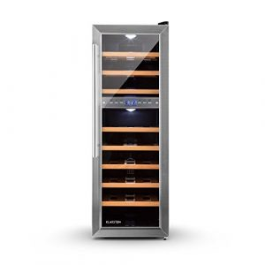 Klarstein Reserva 27D Cave à vin de luxe avec 8 inserts pour 27 bouteilles (2 zones de froid, 7° à 18°C, 76L, LED, classe énergétique C)