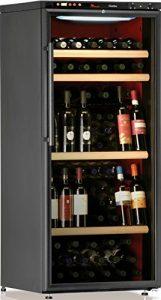 Cave à vin de service – Multi-Températures temp. – 100 bouteilles – Noir – CALICE – ACI-CAL204P – Pose libre