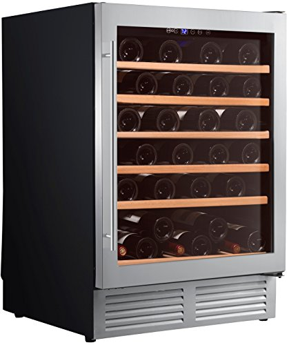 Cave à vin de service – 1 temp. – 51 bouteilles – Noir – CLIMADIFF – ACI-CLI573E – Encastrable