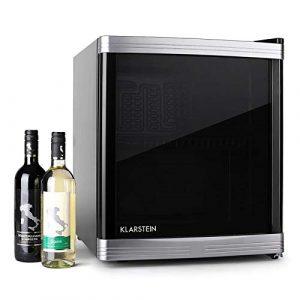 Klarstein Beerlocker • Mini-réfrigérateur• Mini cave à vin • Capacité de 46L • 15 bouteilles • Etagères amovibles• Ouverture porte variable • Classe B • noir