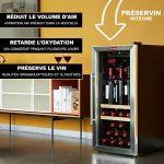 La Sommeliere LS38A Cave à Vin de mise à température – 38 bouteilles – Système de préservation de 3 bouteilles ouvertes intégré – Faible encombrement Classe: A
