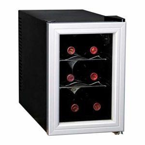 CAVISS- SP16CFMS – Cave de chambrage – 6 bouteilles – Thermostat – Porte verre + contour – Systeme anti vibration – Eclairage