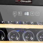 Cave de Chambrage CLS16H – Climadiff – Contrôle Tactile – Fonctionnement Silencieux et Sans Vibration – Contenance 16 Bouteilles