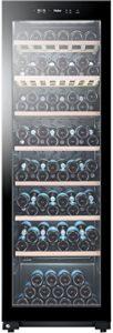 Haier WS171GA refroidisseur à vin Autonome Noir 171 bouteille(s) Refroidisseur de vin compresseur A – Cave à vin electrique (Autonome, Noir, Noir, 7 étagères, 1 portes(s), Noir)