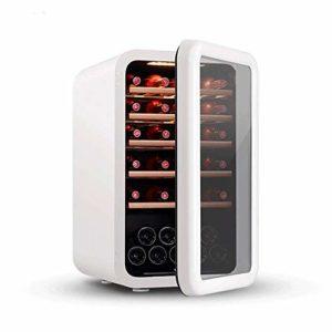 BEANFAN Retro Petit Salon Ice Bar Congélateur Cave à vin Cabinet, bois réglable LED Shelf lumière froide
