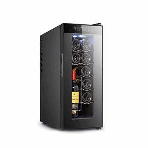 12 Bouteille thermoélectriques rouge et vin blanc Cooler/Chiller comptoir Cave à vin avec affichage numérique de température, autoportant Réfrigérateur verre fumé Porte (Color : Black)