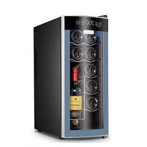 Barir Autoportant Cave à vin électrique rouge et blanc Cave à vin Réfrigérateur avec affichage intelligent de température numérique Convient for Appartement Maison Bureau