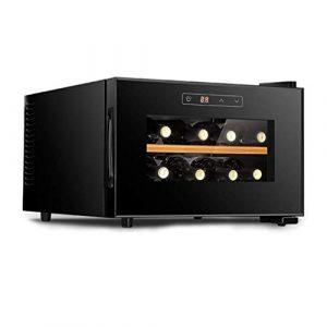 Barir Réfrigérateur Cave à vin vin domestique des petits cigares intelligent thé frais Cabinet Intelligent Affichage numérique porte en verre tactile Support 8 bouteilles 23L (Color : A)