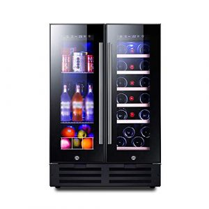 BEANFAN 116L Dual Zone Wine Cooler, mémoire intelligente/Fonctionnement silencieux Réfrigérateur/Touch Contrôle de la température des vins/Beverage/Médecine