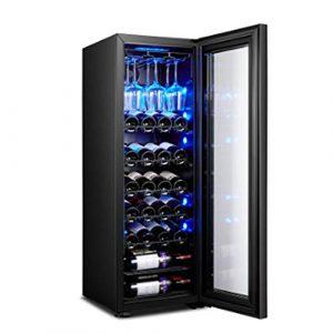 BEANFAN Faible vibration Faible barre de glace bruit Accueil thermostat vin intégré Autonomes Wine Cooler Chiller Touch Control hydratant refroidi à l'air