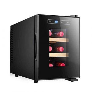 BEANFAN Mini-vin rouge Réfrigérateur, 23 litres de vin et boissons vin Réfrigérateur, LED Poignée intégrée, faible consommation d'énergie