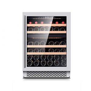 BEANFAN Multifonctionnel vin rouge et blanc Cave, réfrigérateur-debout gratuit, Fonctionnement silencieux Réfrigérateur, basse vibration et Silence