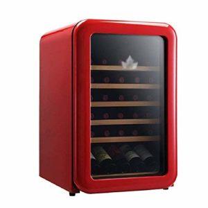 BEANFAN Retro Cave à vin Réfrigérateur, 30 Bouteille autoportant Rouge/Blanc Cave à vin/Chiller, 5 ° C – 18 ° C Température de stockage constante (Color : Red)