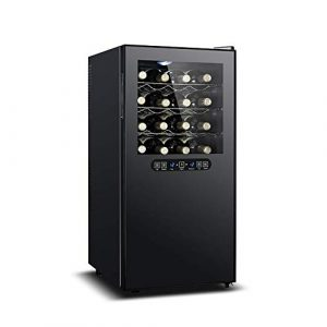 BEANFAN Thermoelectric Wine Cooler, 8 couches de 32 bouteilles de vin rouge avec double température Zone indépendante tactile et affichage