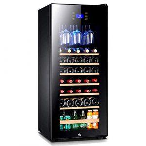 BEANFAN Vin Réfrigérateur avec le Touch Control, Zone uniforme autoportant unique Réfrigérateur et Chiller for les vins rouges et blancs