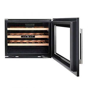 BEANFAN Vin Réfrigérateur Cave à vin, Réfrigérateur numérique avec la température constante autoportant Smoke Glass Door