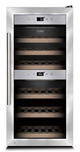 Caso WineMaster 24 – refroidisseurs à vin (Autonome, 5 – 22 °C, Argent, B, Noir, LED)