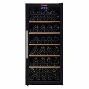 Cave à vin de mise à température La Sommelière CVD117 par FRIO | 121 bouteilles – Porte vitrée anti-UV réversible | Design contemporain