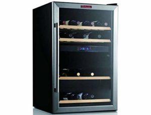 Cave à vin de service LS48.2Z mise à température double zone/capacité 37 bouteilles/Froid brassé