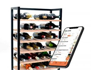 Caveasy – Rangement connecté pour bouteilles de vin, gestion automatique, détection des entrées/sorties, localisation de la bouteille, services d'aide aux choix et de recommandations