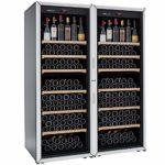 FranceCave – Cave à vin de vieillissement – Fabrication française – Grande capacité 213 bouteilles – 6 clayettes – Cave silencieuse : 37 dB(A)- Cave noire porte vitrée – 1 température