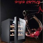 HYYQG Cave De Chambrage, Cave ThermoéLectrique IdéAle pour Chambrer Le Vin Compacte Faible Encombrement Froid Brassé Multi CongéLateur Cuisine Maison Intelligent, Black