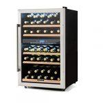 Klarstein Barossa 40d Vin réfrigérateur 2zones 135l 41bouteilles 41 Bottles Vinamour 40d