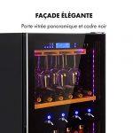 Klarstein First Class 129 – Cave à vin pro, Restauration, Refroidisseur à compression, Single Zone, Volume: 129 Bouteilles/430L, 4 Dispenser, Température: 5-22 °C, contrôle tactile, noir