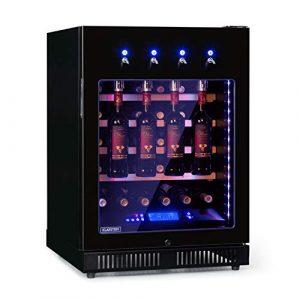 Klarstein First Class 36 Cave à vin pro, restauration, Refroidisseur à compression, Single Zone, Volume: 36 Bouteilles/135L, 4 Dispenser, Température: 5-22 °C, contrôle tactile, noir