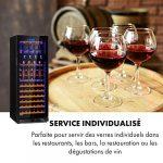 Klarstein First Class 84 Cave à vin pro, restauration, Refroidisseur à compression, Single Zone, Volume: 84 Bouteilles/320L, 4 Dispenser, Température: 5-22 °C, contrôle tactile, noir