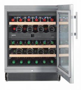 Liebherr UWTes 1672 Vinidor – refroidisseurs à vin (Autonome, Argent, Acier inoxydable, 5 – 20 °C, SN-ST, B, Acier inoxydable)