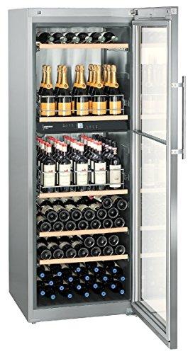 Liebherr wtpes 5972Vinidor autonome Frigo de vin acier inoxydable 155bottle (s) a–Refroidisseur de vin (indépendant, acier inoxydable, acier inoxydable, 6étagères, 1porte (s), acier inoxydable)