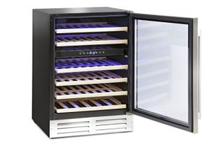 Montpellier WS46SDX Refroidisseur à vin double zone 46 bouteilles en acier inoxydable