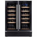 Rosieres RWCB60D refroidisseur à vin Autonome Noir, Acier inoxydable 38 bouteille(s) D – Cave à vin (Autonome, Noir, Acier inoxydable, Bois, 6 étagères, 2 portes(s), Noir)