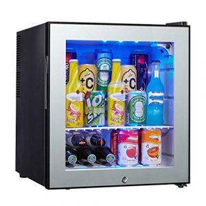 TX Refroidisseur à vin 15 Bouteilles, réfrigérateur, Bouton mécanique, LED, Basse consommation, Noir
