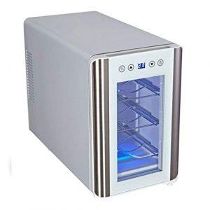 Wine Cooler TX Refroidisseur à vin à écran Tactile de 6 Bouteilles, Commandes électroniques, réfrigérateurs à vin, réfrigérateur à vin (Noir)