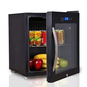 Wine Cooler TX Refroidisseur de vin thermoélectrique de Table de, Moins de Bruit et de Vibrations, casier à vin d'origine en Acier Inoxydable de Haute qualité (Basse énergie, Noir, 50 L)