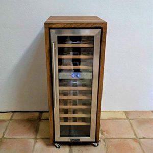 Cave à vin exclusive à 2 zones – En bois de bois de bois de vin, fabriqué à la main – Pour 27 bouteilles – À enrouler – Classe énergétique B : 1995,-€