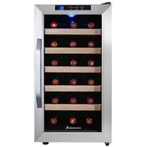 Kalamera KRC-18ASSE Cave à vin réfrigérée 48L (peut contenir jusqu'à 18 bouteilles de vin de taille standard), température 8-18 ° C