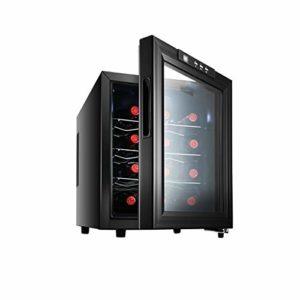 WSMLA 12 Bottle Thermoelectric Wine Cooler/Chiller comptoir Rouge et Blanc Cave à vin Réfrigérateur Fonctionnement Silencieux Réfrigérateur Température de constante en Acier Inoxydable et de l'humid