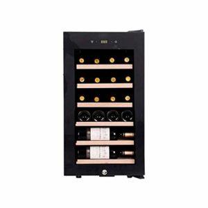 WSMLA 22 Bouteille Ultra Capacité thermoélectriques Cave à vin en verre plein de vin en bois de vin panaché de thermorégulation Cooler ménages Compresseur Petit autoportant Réfrigérateur Porte en verr
