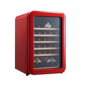 WSMLA Cave à vin Réfrigérateur Rouge Cave à vin Cave à vin Chiller Countertop – Intégrable Compact Mini Cave à vin Capacité numérique de contrôle Porte en Verre