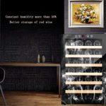 22 Bouteille Ultra Capacité thermoélectriques Cave à vin en verre plein de vin en bois de vin panaché de thermorégulation Cooler ménages Compresseur Petit autoportant Réfrigérateur Porte en verre lala