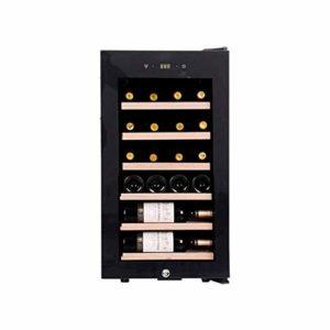 22 Bouteille Ultra Capacité thermoélectriques Cave à vin en verre plein de vin en bois de vin panaché de thermorégulation Cooler ménages Compresseur Petit autoportant Réfrigérateur Porte en verre lili