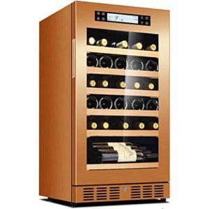 GXFC 20″ Cave à vin réfrigérante, Réfrigérée à vin Intégré ou Autonome 35 Bouteilles Température constante Intelligente/Purification des ions négatifs/Opération silencieuse