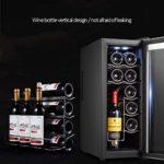 K.W Autoportant Cave à vin électrique Rouge et Blanc Cave à vin Réfrigérateur avec Affichage Intelligent de température numérique Convient for Appartement Maison Bureau Lili