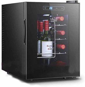 K.W Cave à vin Réfrigérateur autoportant Compresseur Réfrigérateur et Chiller for Verre vin Rouge et Blanc Porte vin Réfrigérateur avec Digital Memory Contrôle de la température Lili