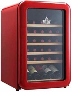K.W Cave à vin Réfrigérateur Rouge Cave à vin Cave à vin Chiller Countertop – Intégrable Compact Mini Cave à vin Capacité numérique de contrôle Porte en Verre Lili