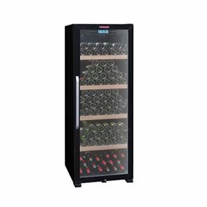 La Sommelière Cave à vin de vieillissement CTVNE186A par FRIO | 194 bouteilles – Température entre 5°C et 20°C | Design noir